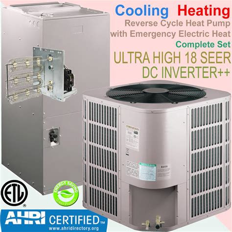 central air and heat pioneer 48000 btu 4 ton 17 5 seer inverter central ducted split heat system