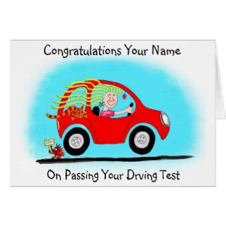 Test Drive Gift Card - congratulations passing driving test cards congratulations passing driving test card