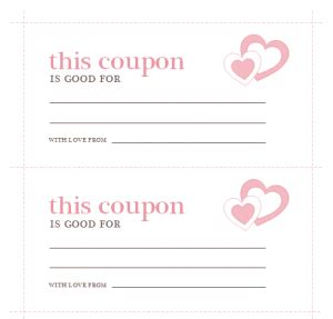 S Day Coupon Template by S Day Coupon Template