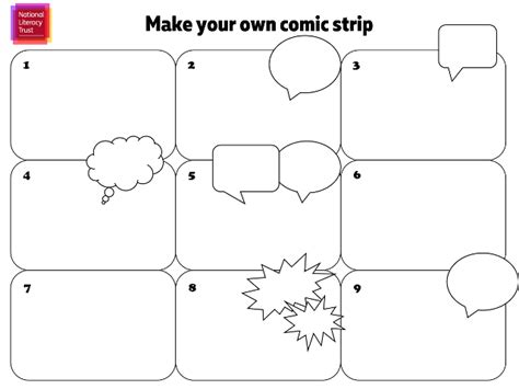make your own comic book template words for make your own comic