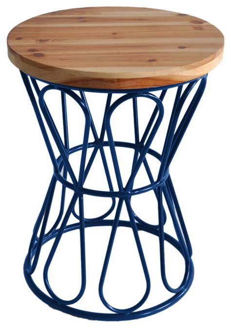 metal drum stool with wood seat drum stool with metal base farmhouse accent and garden
