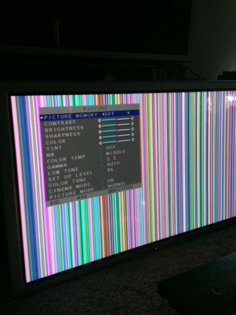 62 Nec Plasma Model Px61xr3a Vertical Colored Lines But