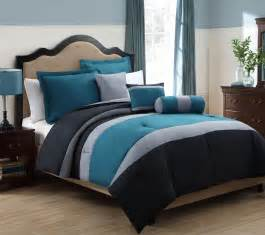 Teal and grey bedding 6 piece queen tranquil teal