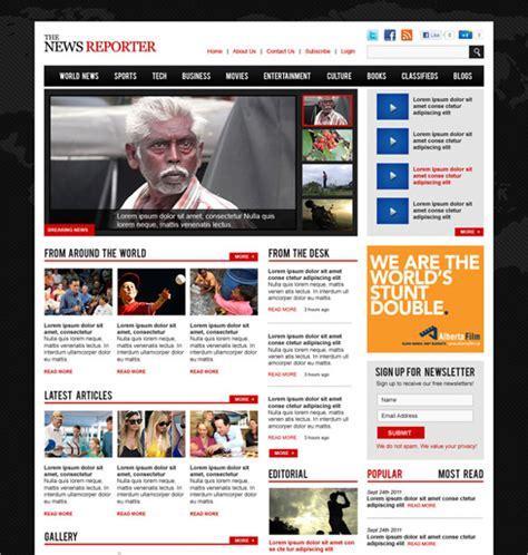 16 Magazine Psd Themes Templates Free Premium Templates Website Magazine Template