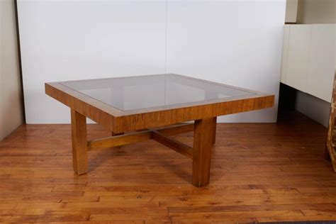 Coffee Table With 4 Ottomans Drexel Consensus Collection Glass Top Cocktail Table With Four Ottomans For Sale At 1stdibs