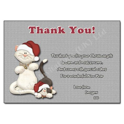 purrfect christmas thank you note