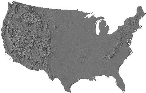 a relief map of the united states united states of america relief map