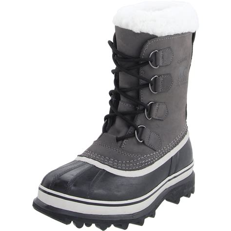 sorel womens caribou boot in black shale lyst