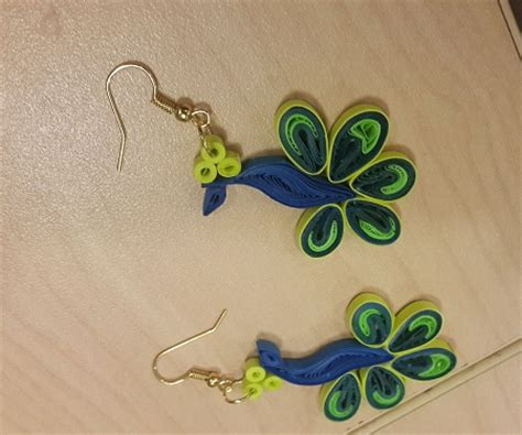 peacock design paper quilled earrings tutorial honey s 18 paper quilling earrings guide patterns
