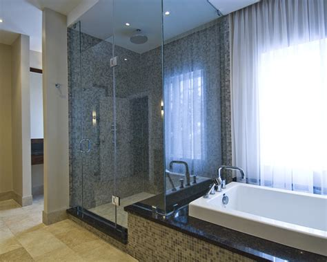luxury bathtubs and showers get the look modern style bathroom plumbtile s blog