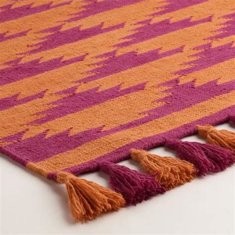 Pink And Orange Rug by 4 X6 Pink And Orange Kaia Flatweave Wool Area Rug World