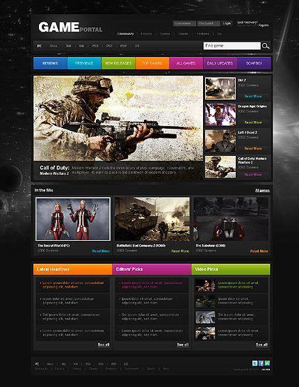 template joomla effortless 7 best movies games music portal web design templates