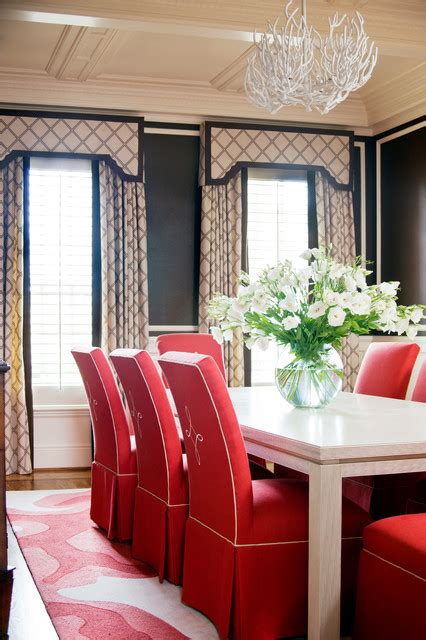 Window Curtains For Dining Room Decor Clear Creek Traditional Dining Room Rock By Tobi Fairley Interior Design