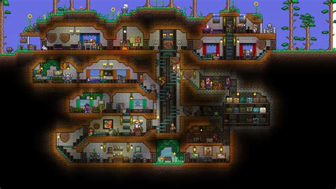 My first attempt at building a underground house! : Terraria