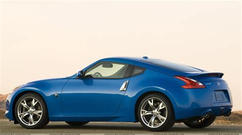 nissan blue nissan 370z in blue side pose wallpaper