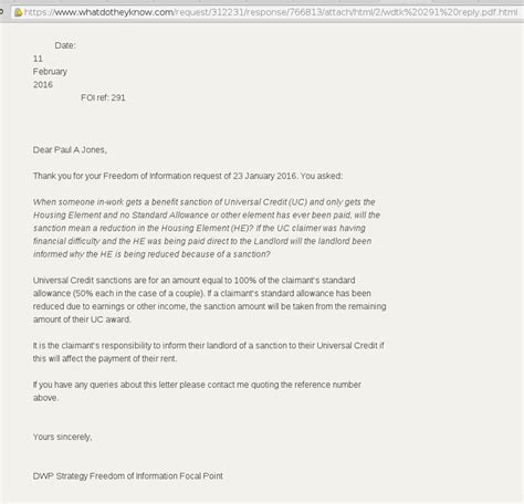 Universal Credit Confirmation Letter Ed Yourself Universal Credit Sanctions