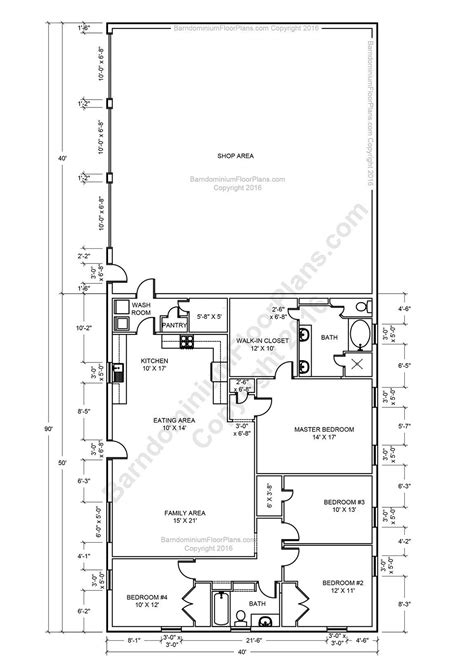 Shop Home Plans by Best 25 Barndominium Floor Plans With Various Type Size