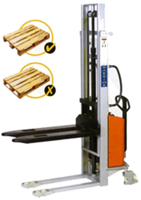 semi electric stackers pallet stackers one stop handling