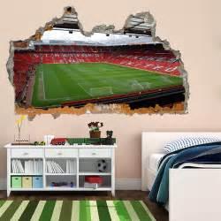 Wall Murals For Kids Bedrooms old trafford stadium manchester football wall art sticker