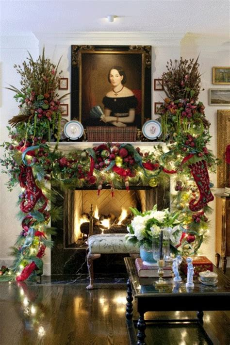 fireplace mantel christmas 35 beautiful mantels style estate
