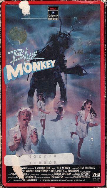 film blue monkey blue monkey the best horror vhs box art pinterest