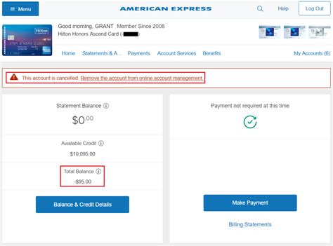 American Express Credit Card i closed my amex ascend credit card received a