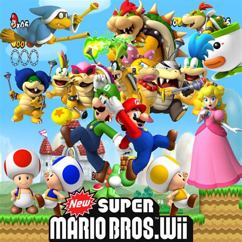 super mario bros wii characters wallpaper new super mario bros wii by dablackblur on