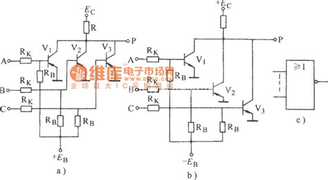 transistor nor gate circuit transistor nor gate circuit diagram basic circuit circuit diagram seekic