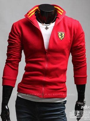 ferrari clothing men new men fashion designed zip up ferrari print short coat