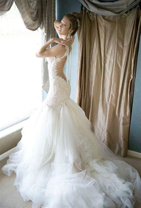 mermaid wedding dress with beading newest galia lahav 2014 lace wedding dresses with