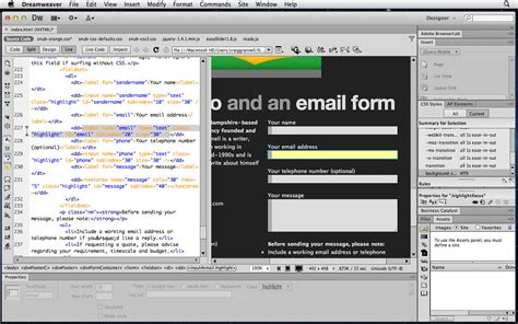 tutorial website using dreamweaver dreamweaver tutorial use css3 transitions for form