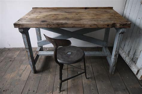 bureau atelier industriel superbe bureau industriel bois patine grise