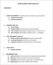 business report template 17 business report templates free sle exle