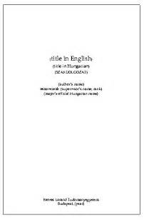 What Does A Title Page For A Research Paper Need by Elte Seas Studies Graduation Thesis