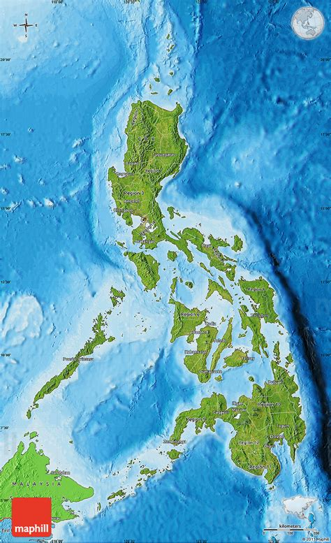 map philippines satellite satellite map of philippines political shades outside