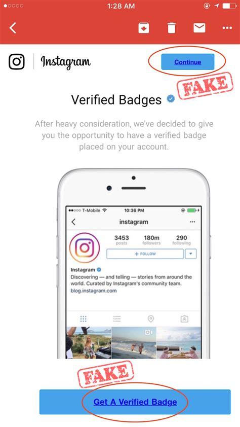 Instagram User Search By Email Badge Scam Instagram Emails To Beware Of Wolf