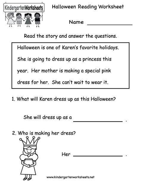 Reading Worksheets by Kindergarten Reading Worksheet Printable Free