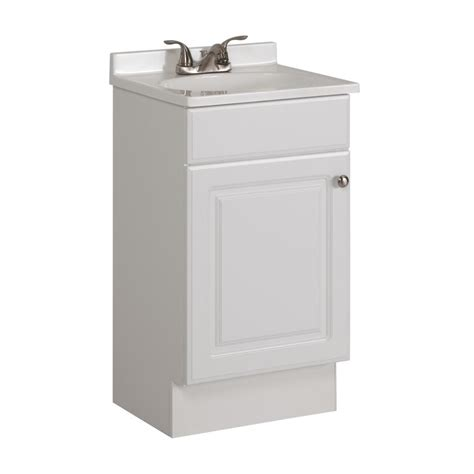 18 Bathroom Vanity And Sink Shop Project Source White Integrated Single Sink Bathroom Vanity With Cultured Marble Top
