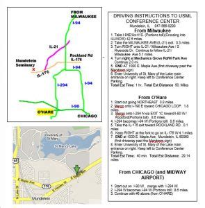 printable written directions driving directions
