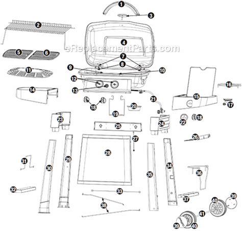 Backyard Grill Parts List Uniflame Gbc1025w Parts List And Diagram