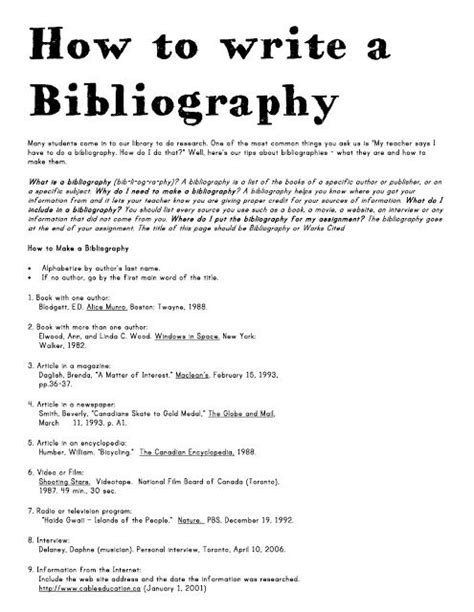 how to write a simple research paper 57 best bibliography citing sources images on