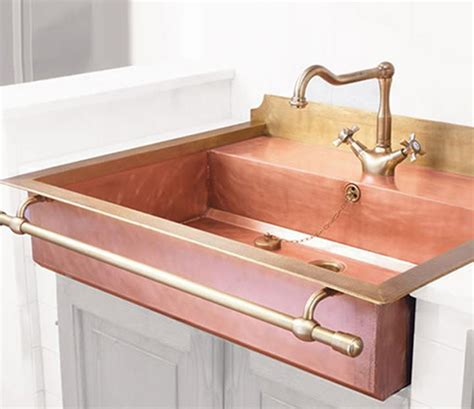 metal kitchen sink copper tub faucet brass prep sink copper stylish brass sinks with a retro look