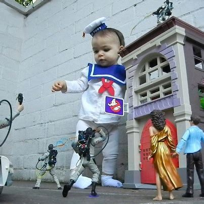 B For Buster baby costume stay puft marshmallow from ghostbusters
