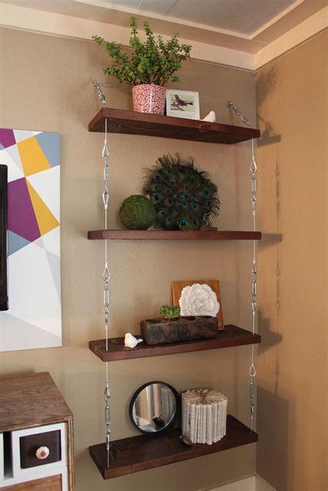 build  space saving hanging shelf  owner