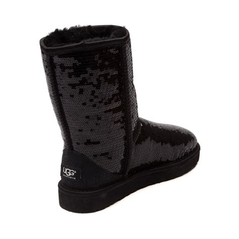 womens ugg 174 classic sequin boot black at journeys