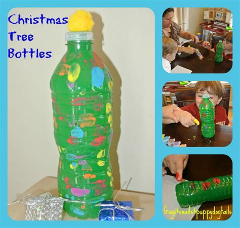 diy water bottle chrismast craft picture water bottle trees craft for the fspdt