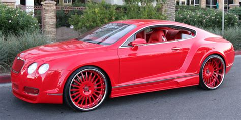 big bentley cars red wide body bentley on forgiato wheels big rims