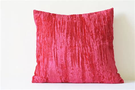 Pink Velvet Pillow by Pink Crushed Velvet Pillow Pink Velvet Cushion