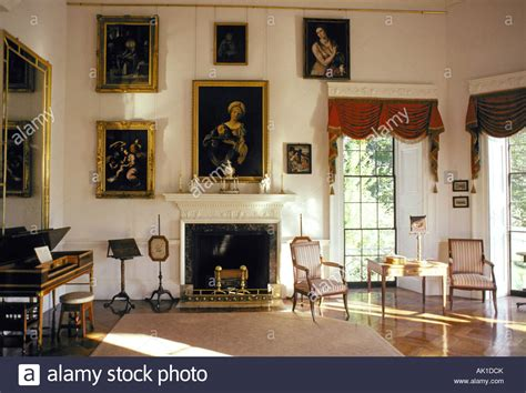 Monticello Interior by Paintings Hang In The At Monticello Home Of Jefferson Stock Photo Royalty Free