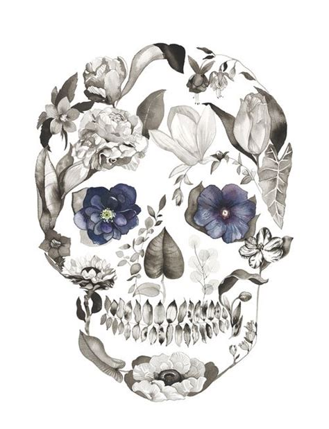 flower skull tattoo 1000 ideas about skull tattoos on tattoos